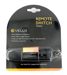 Vello Remote Switch (Wired) RS-N2II for Nikon DC-2 Connection - New