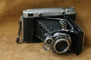 Soviet Camera MOSKVA 5 Medium Format & INDUSTAR-24 Folding 3.5/105 Leather Case