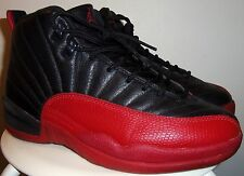 VTG 1997 NIKE AIR JORDAN XII 12 (BLK/ RED) FLU GAME SHOES 9 OG (BRED)