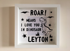 IKEA RIBBA Vinyl Decal Sticker Wall art Quote Roar Means I Love You in Dinosaur