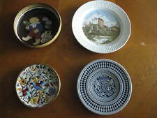 4 Different Decorative Plates Bowl Ireland Spain Germany