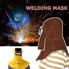 Welding Mask Safety Leather Hood Helmet Welder Protector Cap