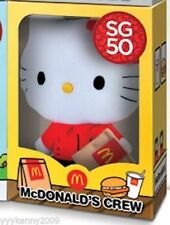 Hello Kitty SG50 Crew Member Plush Toy exclusively from Mcdonalds Singapore