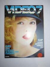 Magazine VIDEO 7 #37 septembre 1984 cover Gabrielle Lazure