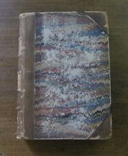 THE HISTORY OF THE PLAGUE OF LONDON by Daniel Defoe - 1857 Derby - Leather