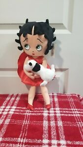 """Universal Studios Betty Boop & Dog 17"""" Soft Plush Doll with Red Dress FAST SHIP"""