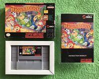 COMPLETE Troddlers (Super Nintendo Entertainment System, 1993) CIB SNES & GIFT