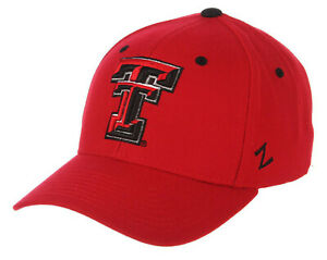 TEXAS TECH RED RAIDERS NCAA RED FITTED SIZED ZEPHYR DH STYLE CAP HAT NEW!