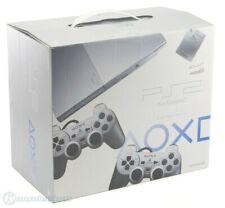 PS2 - Konsole Slim 2G SCPH-9000x #Satin Silver + 2 Original Pad + Zub. mit OVP