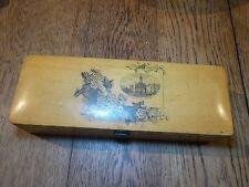 Nice Antique Victorian MAUCHLINE Box Winchester Cross