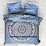 Indian Blue Ombre Mandala Tapestry Bed Sheet Hippie Boho Bedding Set Bed Sheet