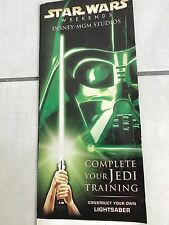 2005 STAR WARS WEEKENDS CONSTRUCT YOUR OWN LIGHTSABER BROCHURE DISNEY MGM STUDIO