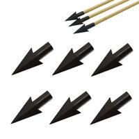 Lots Traditional Steel Broadheads Glue on Arrowheads 225 Grain Arrow Tips 12pcs