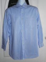 Tommy Hilfiger Men's L Button Down Long Sleeve Shirt Light Blue & White Striped