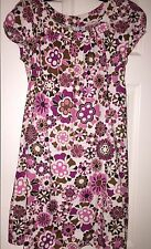 Mango Suit Linen Floral Dress EUC 6 US M EUR