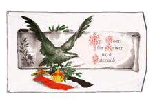 Bandiera Deutsches Reich con Dio per imperatore e patria bandiera hissflagge 90x15