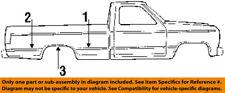 FORD OEM 87-91 F-250 Pick Up Box Bed-Rear Molding Left F1TZ9929315AA