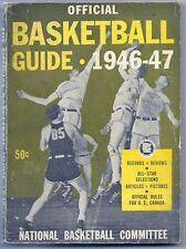 Vintage 1946-47 OFFICIAL College BASKETBALL GUIDE Holy Cross Crusaders Win Title