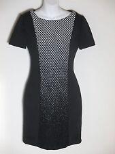 Sachin + Babi Black WHite Houdstooth Panel Cap Sleeve Sheath Dress S NWOT $595