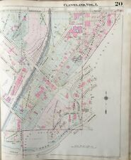 ORIGINAL 1921 GLENVILLE, OHIO CLEVELAND MUSEUM OF ART WADE PARK, ATLAS PLAT MAP