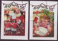 "Australia 2010 Navidad ""Brillante bits"" Self Adhesive Set De 2. Fine Used"