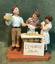 Norman Rockwell - Little Salesman Figurine Authenticated 1982