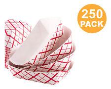 250pk Disposable Cardboard Paper Food Tray Boat Baskets Fast Food Tray 1lb  BULK