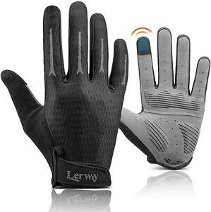 LERWAY Cycling Gloves Bike Mittens Full Finger Men/Women Sensitive Touchscreen