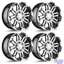 "Set 4 15"" Vision 375 Warrior Black Machined Wheels 5x4.75 Rims S10 2WD Jimmy"