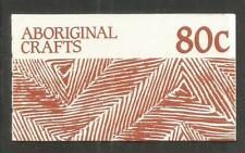 Australia 1987 Aboriginal Art 80c bklt-Attractive Topical (1049a/Sb57) Mnh