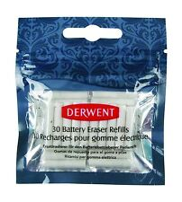 Derwent Replacement Erasers for Battery Operated Eraser Pack of 30 Top Quality