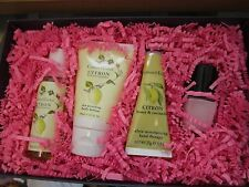 Crabtree Evelyn Citron Beauty Set Lotion, Gel, Hand Cream, Nail Lacquer ~New