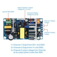 AC-DC Converter Dual Output Isolated Switch  Adjustable Power Supply Buck Module