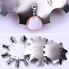 3 Patterns Nail Art Manicure Edge Trimmer Nails Cutter Tools French Smile Line