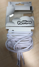 Round laces Mr Lacy Puffies White round puffy shoelaces 5.5 mm wide 120 cm long