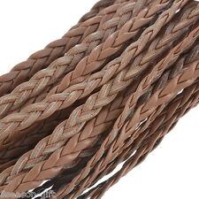 50M Coffee Leatheroid Braided Cord Necklace Bracelet Jewelry Craft DIY
