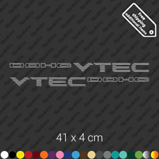 2x DOHC VTEC sticker decal vinyl Honda Civic Si B16 JDM restoration kit - Silver
