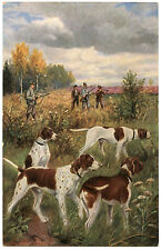 Scene of Chasse.chiens.chasseurs.hunting Dogs.hunters