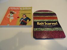 2 Great Knitting Books !!   Easy instructions, Color Photos