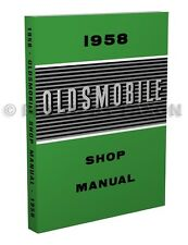 1958 Oldsmobile 88 98 Shop Manual Olds 58 Repair Service Dynamic Holiday Fiesta