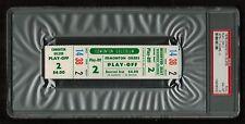 PSA 8 WINNIPEG JETS at EDMONTON OILERS 1976 Unused Ticket WHA Play-off Game 2