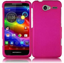 For Motorola Electrify M XT901 Rubberized HARD Case Snap On Phone Cover Hot Pink