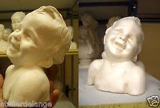 Buste petit enfant éclat de rire plâtre statue 2074