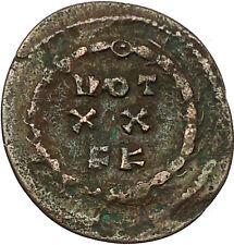 MAXIMIAN  295AD Carthago mint Very rare Ancient Roman Coin Wreath i35291