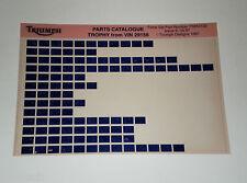 Microfich Ersatzteilkatalog Triumph Trophy ab Fahrgestellnr. 29156 05/1997
