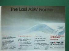 10/90 PUB SPARTON CANADA ARCTIQUE ARCTIC ASW ASM SUBMARINE SENSORS SONOBUOYS AD