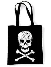 SKULL & CROSSBONES SHOULDER / TOTE BAG - Pirate Pirates Fancy Dress Goth Gothic
