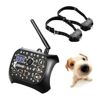 Wireless Electric 2 Dog Fence No-Wire Pet Containment System Waterproof Trainer