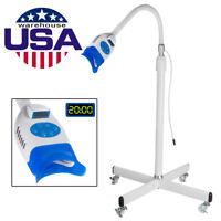 Dental Floor Type LED Teeth Whitening Light Lamp Bleaching System Mobile Wheel