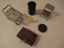 New listing Jakks Wwf Wwe Wrestling Accessories Cart Drum Hydrant Chair Sewer & Rat Dolly